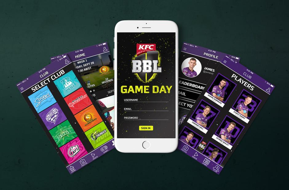 BBL Game Day App Design