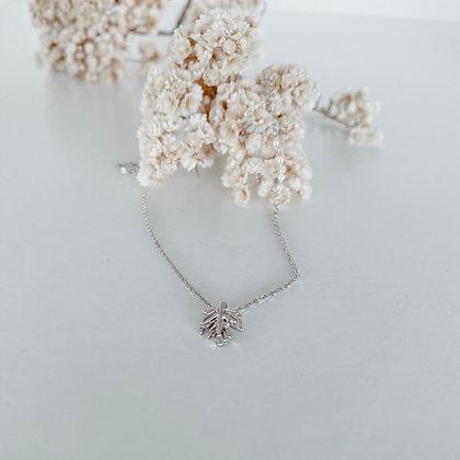 Delicate Leaf 925 Silver Necklace