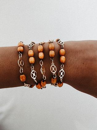 Golden Wood Bracelet