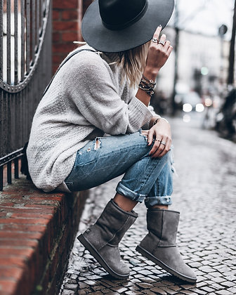 Fur Suede Snow Boots