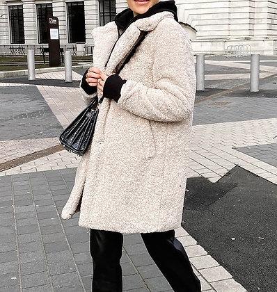 Pearl Faux Fur Coat
