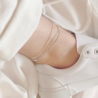 Fine Strings 925 Silver Ankle Bracelet
