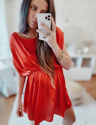 Satin Red Lose Dress