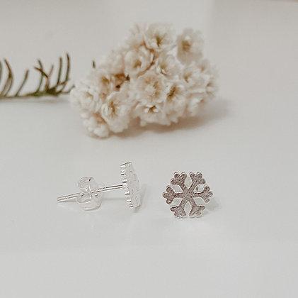 Snow Flake 925 Sterling Silver Earrings