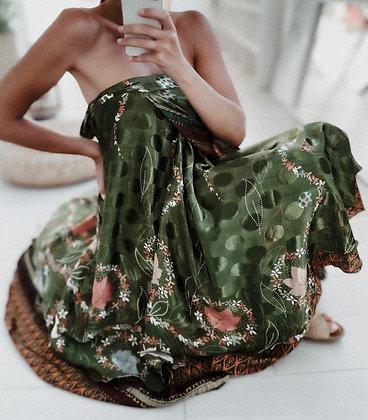 Silk Double Layer Dress Skirt