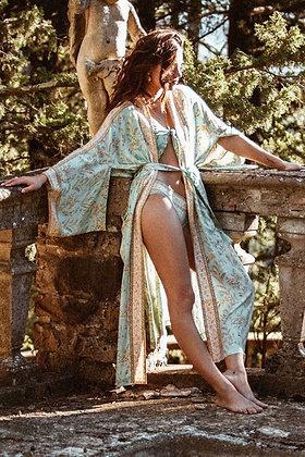 Sea Green Maxi Kimono