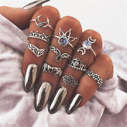 Moonly Rings Set