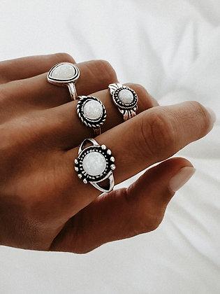 White Elf Rings Set