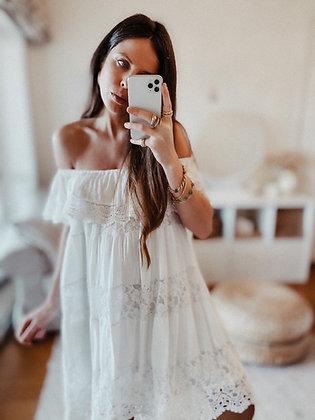 Off Shoulder Romantic Lace Dress