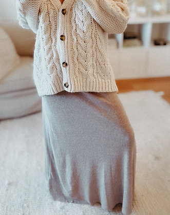 Earthy Knit Maxi Skirt