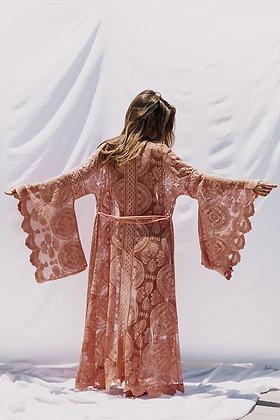 Bell Sleeve Lace Kimono