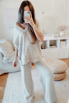 Light Beige Knitted Set