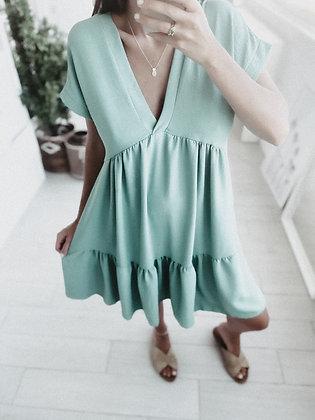 Mint Flowing Dress