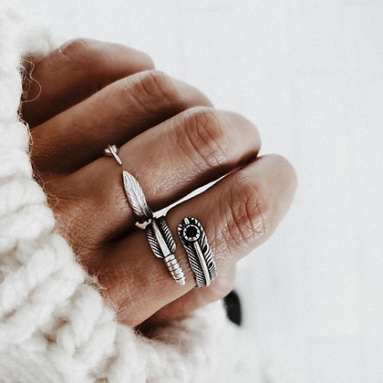 Nomad Feather 925 Silver Ring