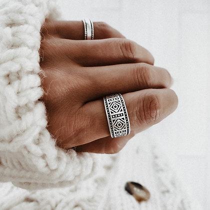 Mandala 925 Silver Ring