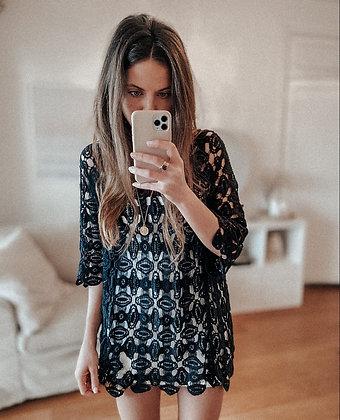 Black Crochet Tunic