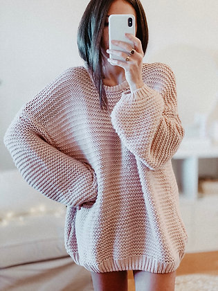 Oversized Coral Sweater