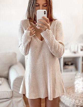 Soft Nude Sweater Dress