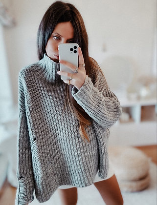 Knit Holes Oversized Sweater