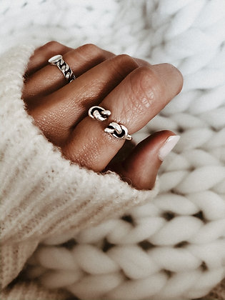 925 Silver Double Knot Ring