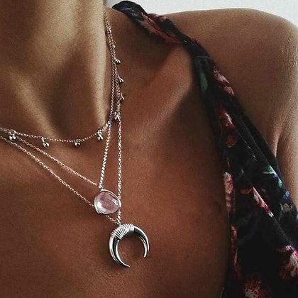 Stone Layered Necklace