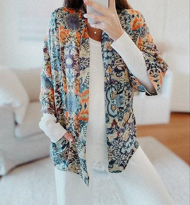 Floral Coloured Kimono Blouse