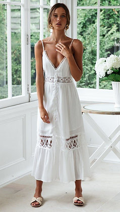 Flowing Angel White Dress