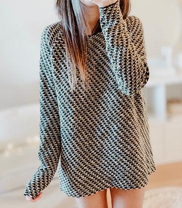 Knit Yellow Striped Sweater