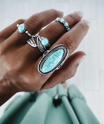 Tourquoise Dream Rings Set