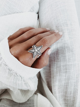 Starfish 925 Sterling Silver Ring