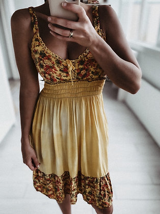 Yellow Hippie Dress
