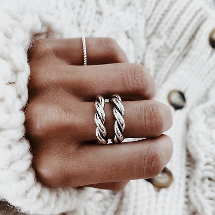 Lovers Dance 925 Silver Ring
