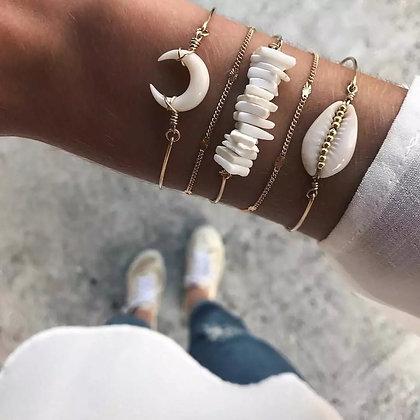 Love Shell Bracelet Set