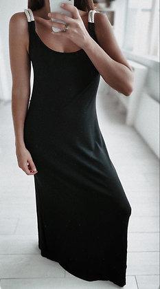 Braided  Black Maxi Dress