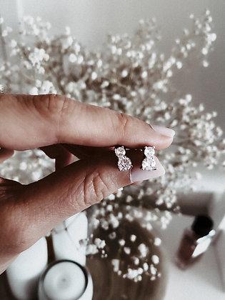 Zirconia Real 925 Silver Earrings