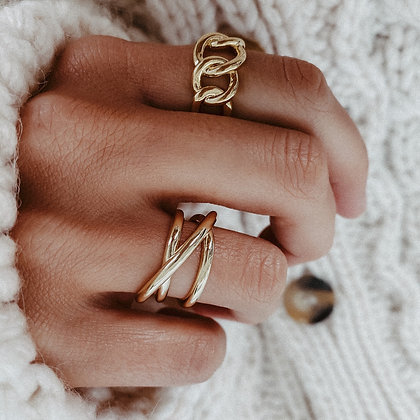 Wanderer Gold-Plated 925 Silver Ring