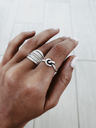 Single Knot 925 Sterling Silver Ring