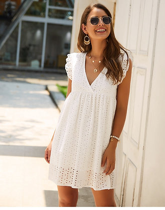 Spring of Life White Dress