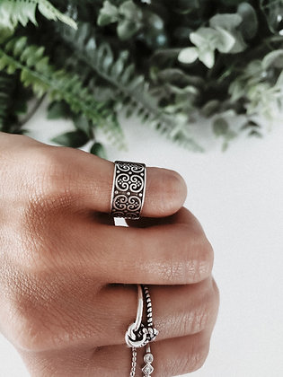 Aztec 925 Silver Ring