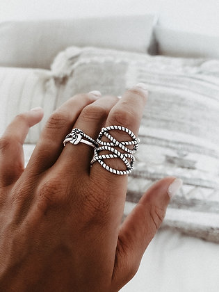 Rope 925 Sterling Silver Ring