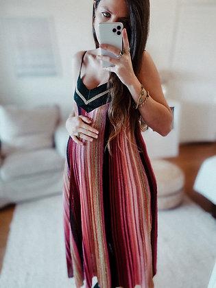 Golden Knit Maxi Dress