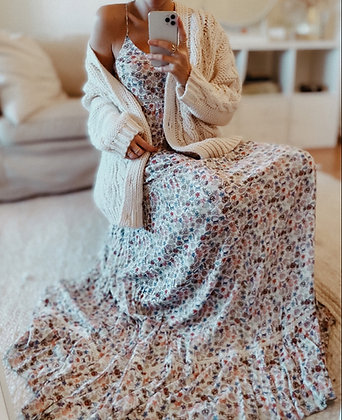 Boho Princess Flowered Maxi Dress