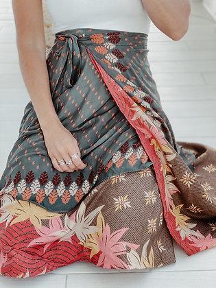 Double Layer Silk Skirt Dress