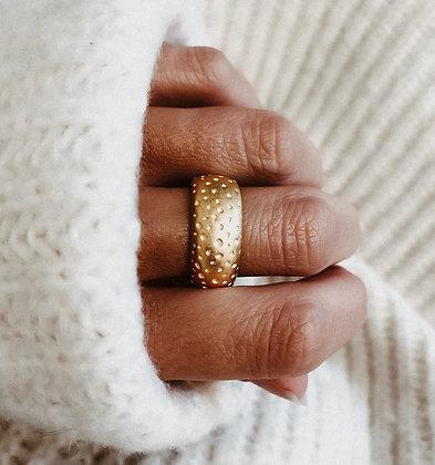 Golden Moon 925 Silver Ring