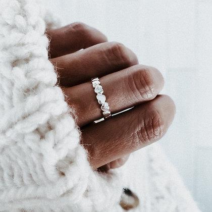 Tiny Hearts 925 Silver Ring