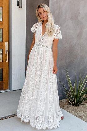 White Angel Lace Dress
