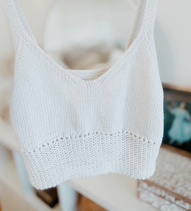 White a Crochet Top