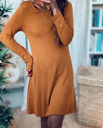 Brick Midi Dress