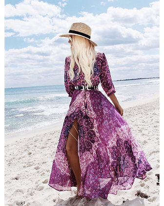 Chiffon Purple Dress