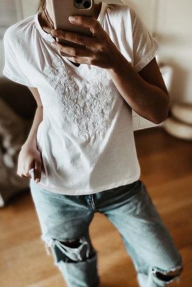 White Embroidery Tshirt